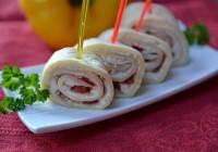 Crepesröllchen mit Parmaschinken und Paprika