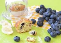 Mini-Muffins mit Blaubeeren und Banane