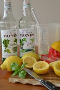 Gurken-Basilikum-Limonade Vorbereitung