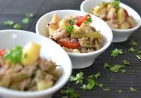 Kartoffelsalat mit Thunfisch und Bohnen