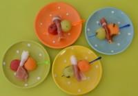 In Portwein marinierte Melonenbällchen mit Parmaschinken