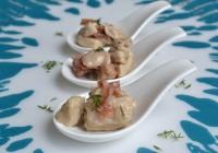 Hähnchen mit Serranoschinken in Weißweinsauce