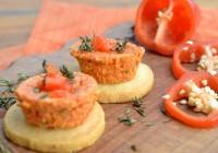 Tartelettchen mit Paprika und Thymian