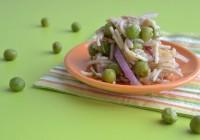 Asianudel-Erbsen-Salat mit Thunfisch