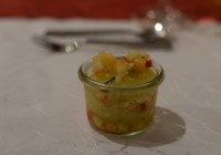 Melonen-Gurken-Sorbet mit Winzersekt